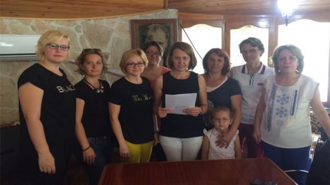 Pınarhisarlı Kadınlardan Ayşegül Terzi'ye Destek