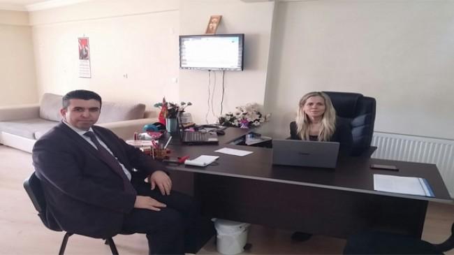Kaymakam Murat Eren Pınarhisar Gazetesini ziyaret etti