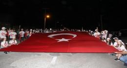 7 den 70'e tüm Pınarhisar 15 Temmuz'a sahip çıktı