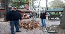 Belediye çalışanlarının yaprak mesaisi başladı