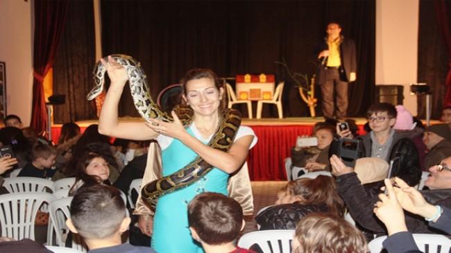 Pınarhisar'da sirk gösterisine yoğun ilgi