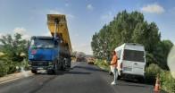 Poyralı ve Yeniceköy arasına sıcak asfalt