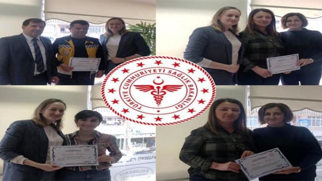 Pınarhisar Devlet Hastanesi çalışanlarına Teşekkür Belgesi