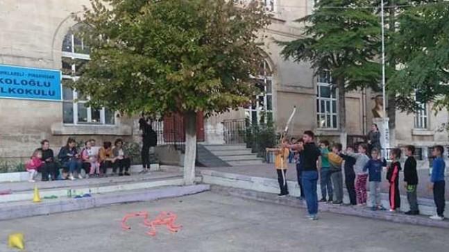 Pınarhisar'da ata sporu okçuluk kursu