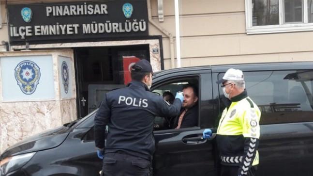 """Pınarhisar'da ateş ölçerli """"corona virüs"""" tedbiri"""