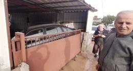 Garajdaki aracı pert etti