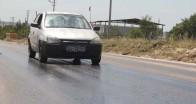 Sıcaktan asfalt eridi
