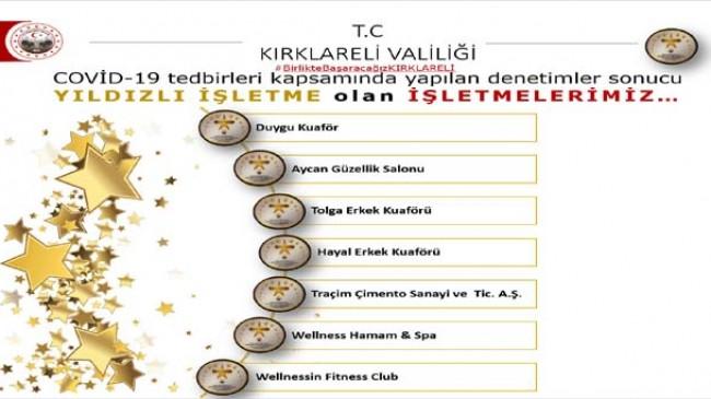 """TRAÇİM'e """"Yıldızlı İşletme"""" sertifikası"""
