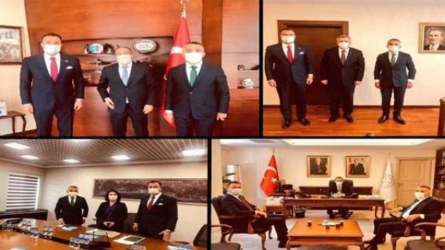 Vali ve Vekil'den Ankara ziyaretleri