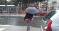 Pınarhisar'da sağanak yağış etkili oldu