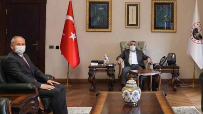 Başkan Türker'den Vali Bilgin'e ziyaret