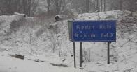 Nisan ayında Istrancalar'a kar yağışı